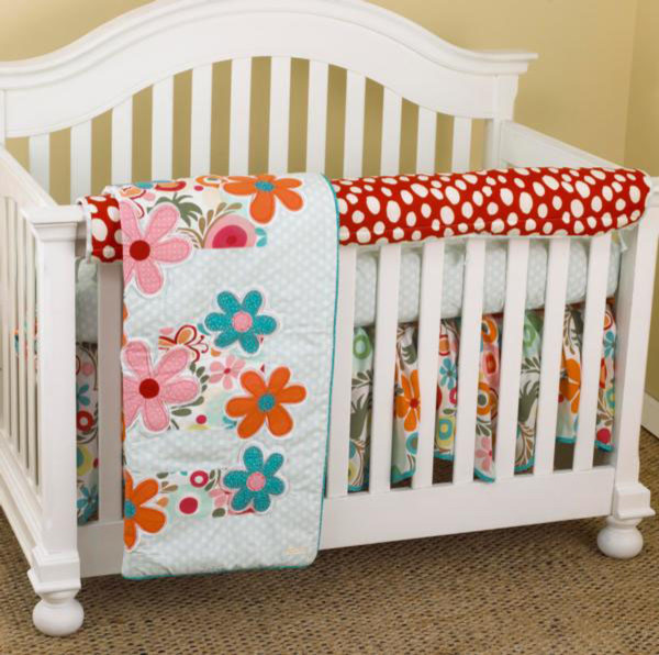 Lizzie Front Crib Rail Cover Up Set contemporary-baby-bedding
