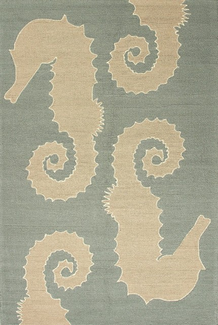 """Indoor/Outdoor Grant I-O 3'6""""x5'6"""" Rectangle Slate Blue Area Rug contemporary-outdoor-rugs"""