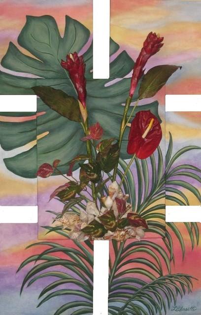 """Sunset"" 3D Artwork by Lorraine Blasetti transitional-paintings"