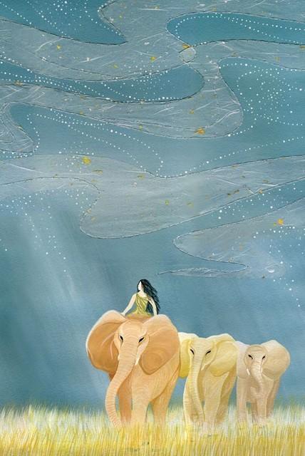 """Heaven's Blue Through Me"" by Dan-ah Kim contemporary-artwork"