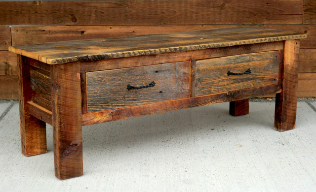 Rustic Furniture Portfolio - traditional - benches - other metro ...
