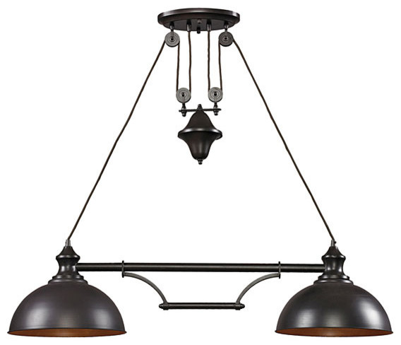 "Farmhouse 44"" Light Fixture Kitchen Island Lighting by Whispar Design"