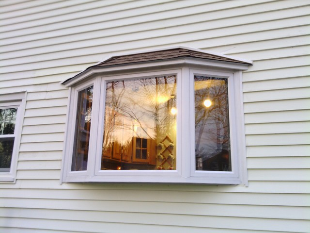 Bay window install exterior shot traditional boston for Bay window installation