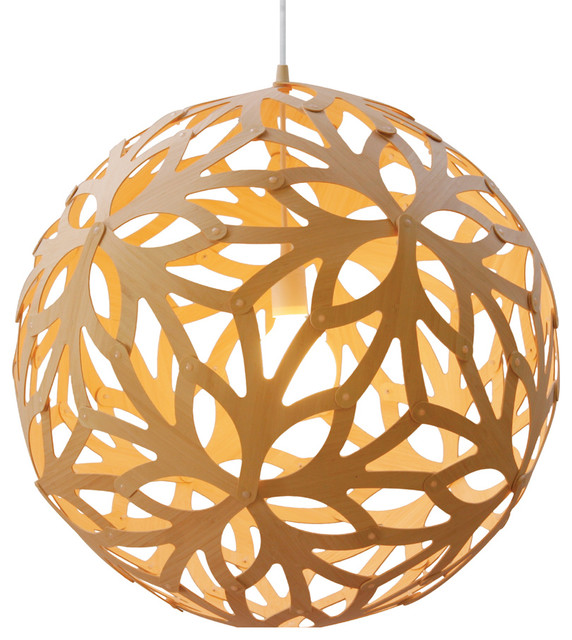 David Trubridge Design Floral 400 Bamboo Suspension Lamp contemporary-pendant-lighting