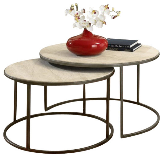 Bronze Nesting Coffee Tables: Hammary Modern Basics Nesting Cocktail Table In Textured