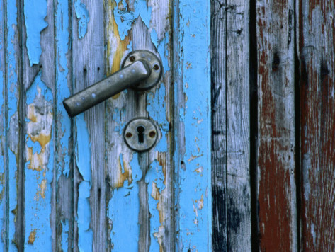 """Weathered Door, Handle and Lock"" by Holger Leue contemporary-artwork"