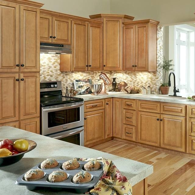B. Jorgsen & Co Westminster Glazed Toffee Kitchen Cabinets - Traditional - detroit - by Cabinets ...