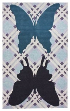 nuLOOM Butterfly Patchwork ROIC06A-508 Area Rug - Blue modern-rugs