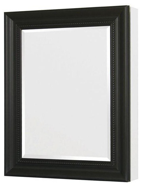 24in. x 30in. Recessed or Surface Mount Mirrored Medicine Cabinet, Espresso - Traditional ...