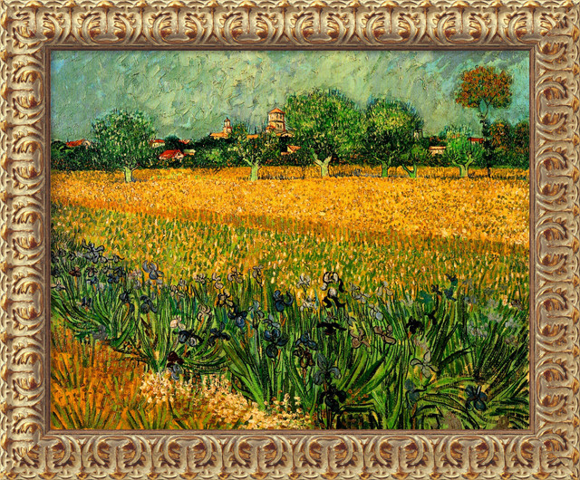 View of Arles with Irises, 1888 by Vincent Van Gogh traditional-prints-and-posters