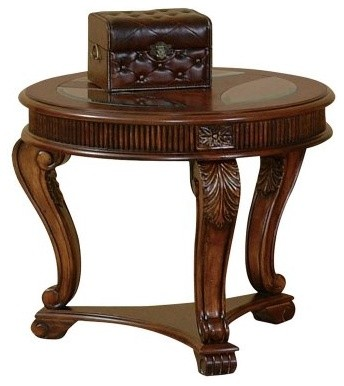 Progressive Furniture Round End Table - Ash and Burl modern-bar-tables
