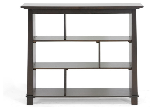 Havana Brown Wood Modern Bookcase (Short) - Contemporary - Bookcases