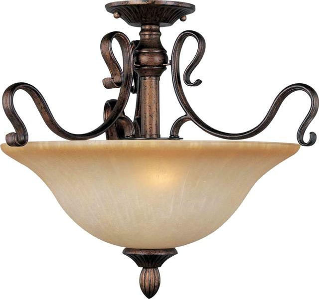 Maxim Lighting 21121MCFL Sausalito Filbert Semi-Flush Mount mediterranean-ceiling-lighting