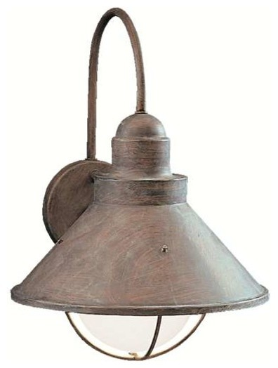 Kichler Lighting 9023OB Seaside Lodge/Country/Rustic Outdoor Wall Light - XLarge rustic-outdoor-wall-lights-and-sconces