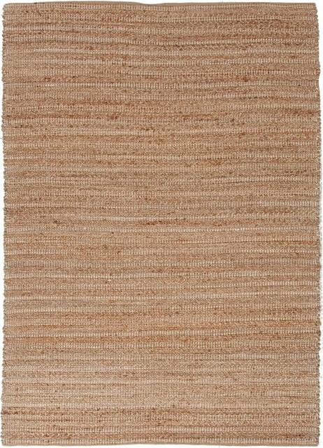 """Natural Fiber Himalaya 3'6""""x5'6"""" Rectangle Driftwood Natural-Driftwood Natural A contemporary-rugs"""