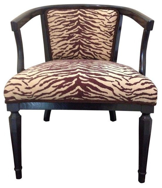Missoni Style Print Accent Chair: Pre-owned Animal Print Accent Chair