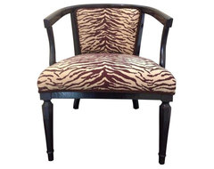Pre-owned Animal Print Accent Chair contemporary-armchairs