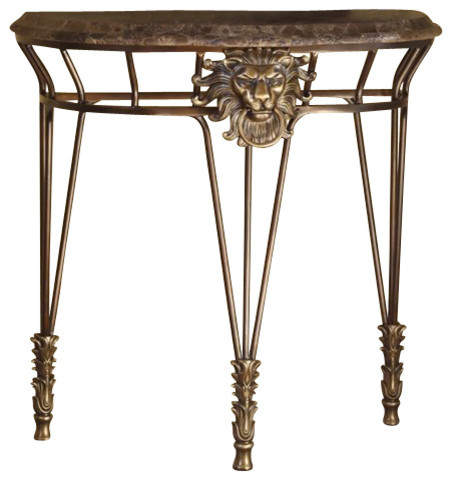 Henry Link Simba's Pride Demi-Lune transitional-console-tables