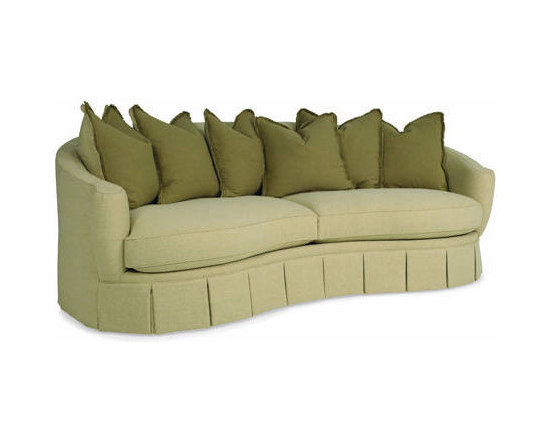 Eco Friendly Furnture and Lighting - The Stockholm Sofa.All of C.R.'s upholstery has frames made manufactured from sustainably-harvested hardwoods with water-based wood adhesives. The coil springs are made from 50 percent recycled metal. The cushions are made with the new bio-based foams and the back cushions and throw pillows are filled with 100 percent post-consumer regenerated fibers which come from recycled plastic drink bottles. This sofa as shown is covered in a new cotton fabric called Hybrid, which is made from T-shirt scraps that used to be previously discarded in the manufacturing process. According to C.R. Laine's Marketing Director, Holly Blalock when cotton T-shirts are manufactured, a significant amount of cotton fabric is unused. These remnants used to be incinerated or sent to landfills. Now through a process of collecting, cleaning and separating this pre-consumer scrap cotton fabric into raw fibers, a new cotton fabric is produced. All this is done without the use of additional water, fertilizers, insecticides or farmland, thus conserving resources.