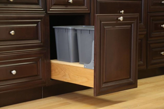 Findley & Myers Palm Beach Dark Chocolate Kitchen Cabinets - detroit - by Cabinets To Go