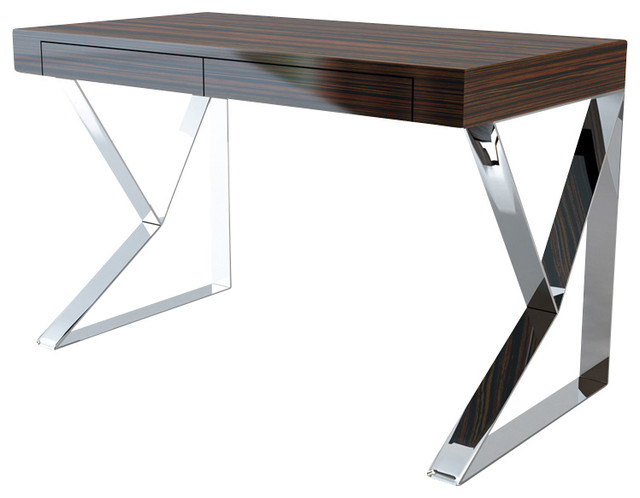 houston desk ebony lacquer modern desks and hutches by inmod