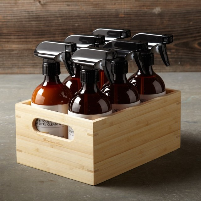 Murchison Hume Cleaning Kit With Bamboo Caddy Modern
