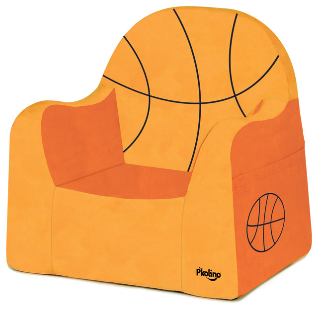 Playful Embroidery Little Reader, Basketball contemporary-kids-chairs