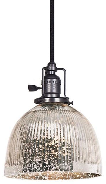 ribbed dome mercury glass shade pendant 3 finishes. Black Bedroom Furniture Sets. Home Design Ideas