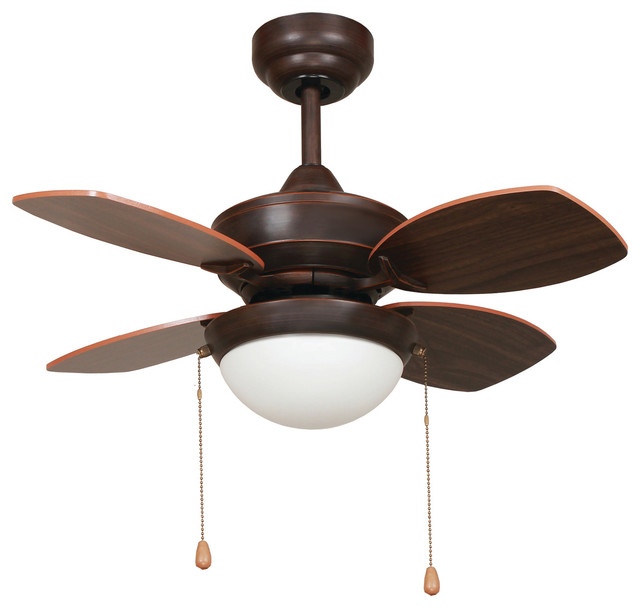 28 Inch Ceiling Fan in Oil Rubbed Bronze Finish with 72