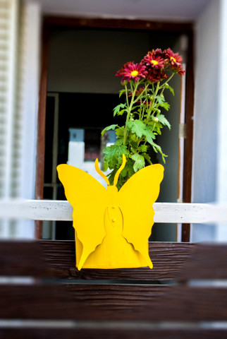Butterfly  Balcony Railing Planter contemporary