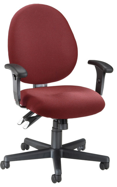 24 Hour Burgundy OFM High-Back Computer Task Chair modern-task-chairs