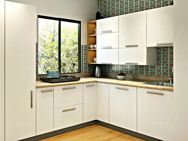 Opala L Shaped Modular Kitchen Modern Kitchen Other Metro By Capricoast Kitchens