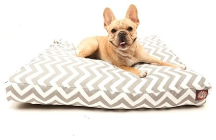 Zig Zag Rectangle Pet Bed modern-home-decor