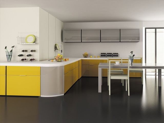 Glass Kitchen Cabinet Doors Contemporary by Cronos Design