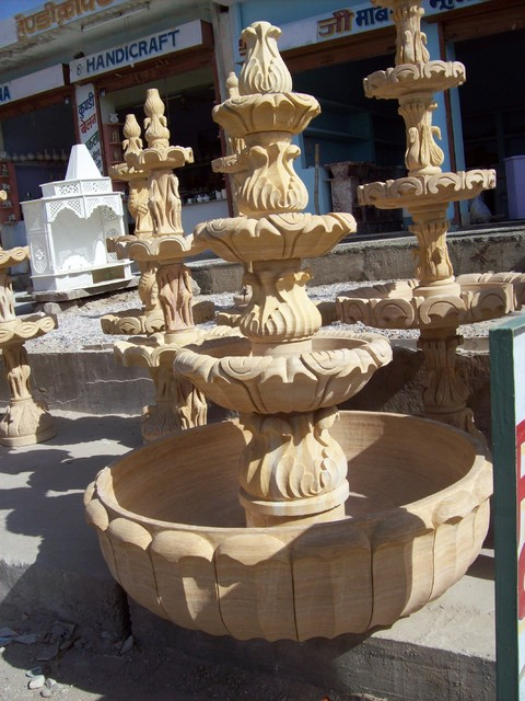 Sand Stone Fountains & Crafts asian-outdoor-fountains-and-ponds