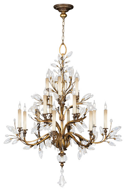Crystal Laurel Gold Chandelier, 773740ST traditional-chandeliers