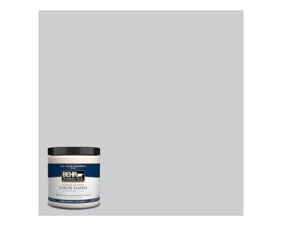 Behr Premium Plus Silver Screen Interior/Exterior Paint - One wall of my foyer is painted in this color. The hall bathroom is currently a light sea glass blue color, but I think a fresh coat of paint will be necessary once the bathroom renovations are complete. My hubby and I think that this light gray will be perfect.