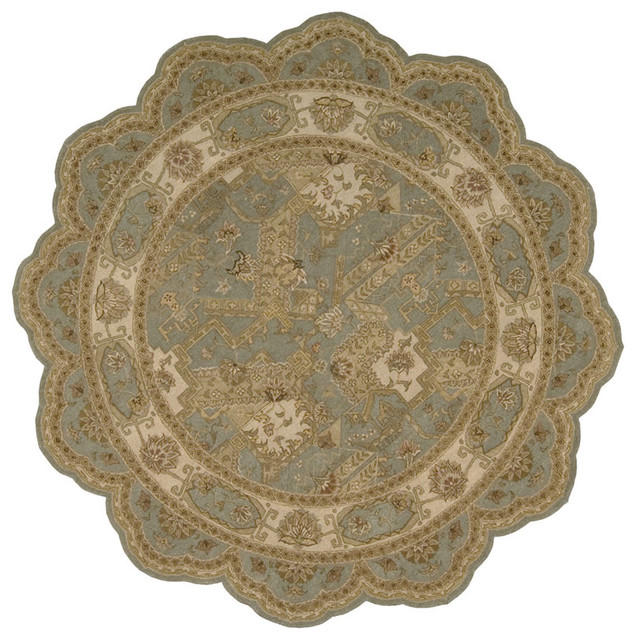 Heritage Hall HE25 6' Free Form Blue Rug traditional-rugs