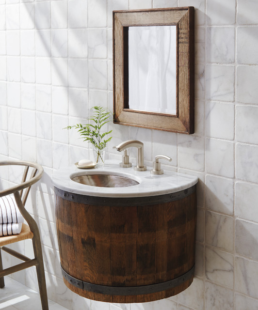 Bordeaux Reclaimed Wine Barrel Bathroom Vanity By Native
