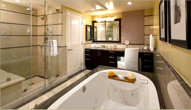 Terra Bella, Pasadena CA - transitional - bath and spa accessories