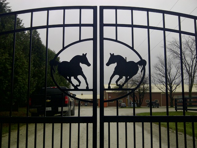 Driveway Gates traditional-home-fencing-and-gates