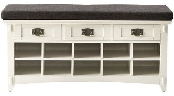 Artisan Bench with Shoe Storage - Traditional - Closet Storage