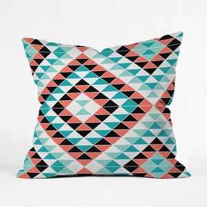 Pastel Triangles Pillow Cover industrial-decorative-pillows