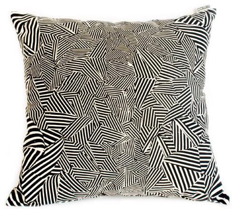 Fingerprint Kuma Pillow eclectic-decorative-pillows