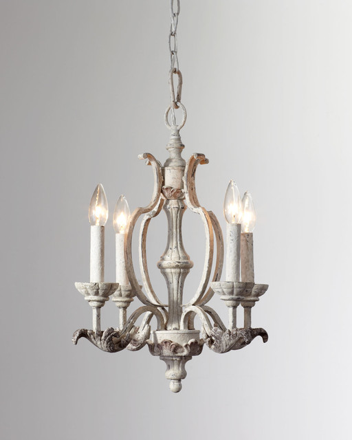 Romantic florence persian white mini chandelier for Small chandeliers for bathrooms