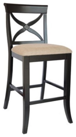 Counter Height Bar Stools With Backs : ... Back Counter Height Stool - 24 in. contemporary-bar-stools-and-counter