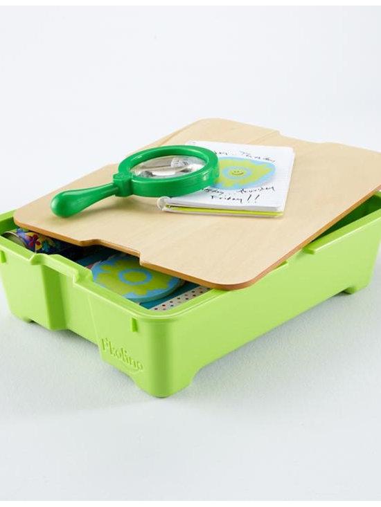 Write Side Up Storage Bins, Green -