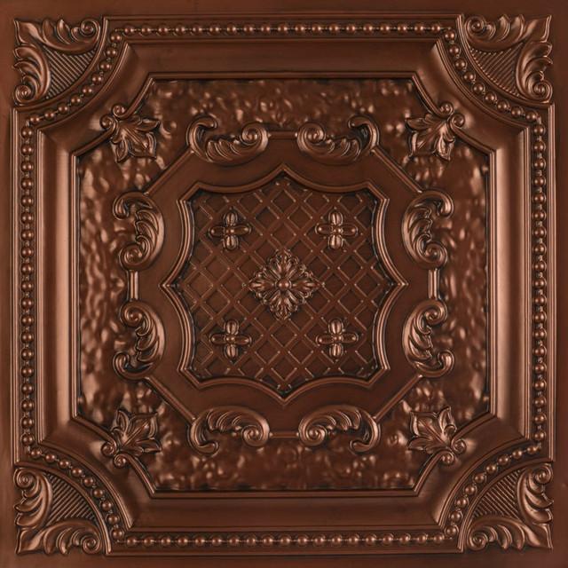 """Elizabethan Shield Faux Tin Ceiling Tile 24""""x24"""""""