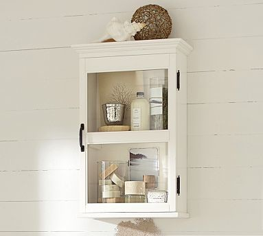 Franklin Wall Cabinet, Antique White - Traditional - Display And Wall ...