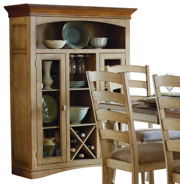 Homelegance Nash 48 Inch Curio with Wine Bottle Storage - Traditional - Pantry Cabinets - by ...